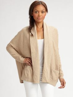 Luxe Cocoon Cardigan | Aw 2014, Brown brown and Topshop