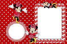 Minnie Mouse de rojo: invitaciones para imprimir gratis.