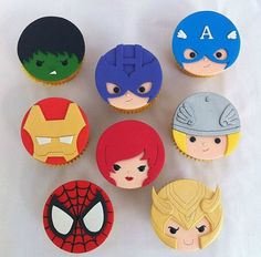 12 Marvel Cupcake Toppers Edible by TheConfectionary on Etsy