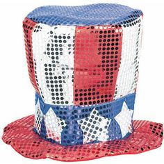 Patriotic Sequin Fabric Hat