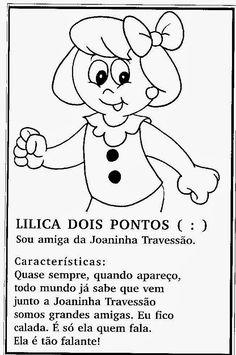 Sinais De Pontuação Para Crianças Portuguese Language, Learn Portuguese, Hello Kitty, Letters, Activities, Education, My Favorite Things, Learning, Fictional Characters