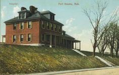 The Fort Omaha Hospital, circa 1900. This building was eventually demolished and replaced.