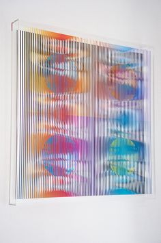 Nathalie Cohen, 'Javier Multi Orange,' K+Y Gallery Op Art, Lightbox Art, Deco Paint, Kinetic Art, Plastic Art, Glitch Art, E Design, Installation Art, Sculpture Art