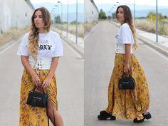 Claudia Villanueva - Zara T Shirt, Zara Corset, Zaful Skirt, H&M Bag, Asos Sandals - Maxi skirt with corset