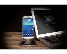 Stand de incarcare pt. birou cu mufa Micro USB, pentru smartphone cu Android  Incarca si sincronizeaza-ti smartphone-ul Android cu ajutorul standului compact de incarcare pentru birou cu mufa micro USB de la Veho.