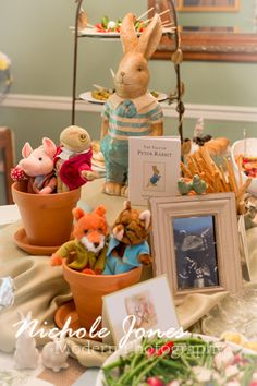Peter Rabbit Baby Shower - food table