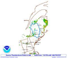 SPC Severe Thunderstorm Watch 408 - http://blog.clairepeetz.com/spc-severe-thunderstorm-watch-408/