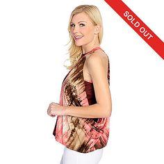 721-787 - The Countess Collection Knit Sleeveless Blouson Halter Top
