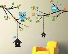 La etiqueta de la pared flor cereza de la rama por wordybirdstudios
