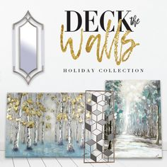 Deck the walls with art and mirrors, falalalala.. lala.. la.. la 🎶🎵🎶. Shop our holiday collection today with tons of new products! - Link in bio #art#home#christmas#livingroom#homedecor#interiordesign #interiordesigner#holidayseason