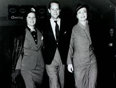 Missy and Joan, struttin' along like the fierce fearless kickass badass wonders they were. Oh and there's Franchot Tone, who gets my honor/dubious distinction of being second worst actor in Old Hollywood.