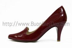 Giày cao gót Zara, chất liệu da bóng, chiều cao 7cm