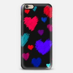 Scribble Hearts - Classic Snap Case