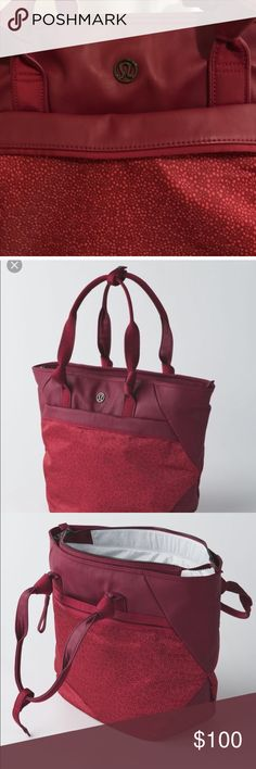 7258a603b1 LULULEMON EVERYTHING BAG!! Gym/work/travel bag in Rosewood/Freckle Flower