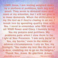 Bakers' Blessings: Jesus Calling prayer - February 19