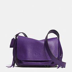 Designer Handbags   COACH Dakotah Fringe Flap Crossbody in Leather