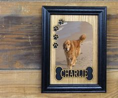 8x10 Personalized Dog Picture Frame, Pet Memorial Photo Frame, Gift for Dog Lover, Wagcommunity, Rustic Laser Engraved Wood Picture Frame by legacyimages on Etsy