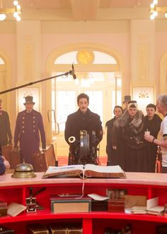 Adrien Brody on the set of The Grand Budapest Hotel