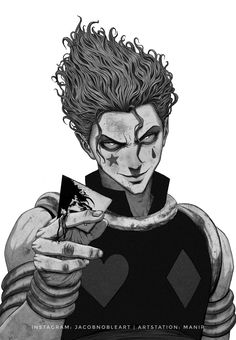 Hunter x hunter Hisoka Hunter X Hunter, Anime Hunter, Monster Hunter, Manga Anime, Fanarts Anime, Manga Art, Sad Anime, Anime Demon, Kawaii Anime
