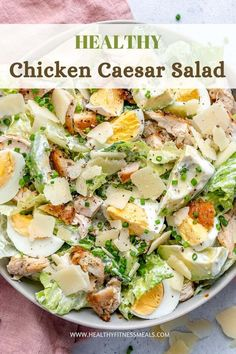 Healthy Low Carb Recipes, Healthy Meal Prep, Healthy Foods To Eat, Healthy Dinner Recipes, Healthy Eating, Healthy Low Carb Breakfast, Healthy Munchies, Healthy Caesar Salad, Salade Healthy