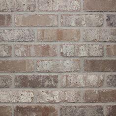 Old Mill Brick Rushmore Thin Brick Singles – Flats (Box of – in. – The Home Depot – Brick Tiles Faux Brick Walls, Brick Paneling, Brick Tiles, Brick Flooring, Brick Fireplace, Brick Backsplash White Cabinets, Whitewash Brick Backsplash, Fake Brick, Foyer Flooring