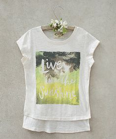 Look at this Cream 'Live in the Sunshine' Tee - Toddler & Girls on #zulily today!