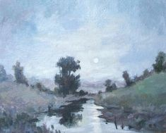 Oil Paintings, Canvas Size, Light Colors, Landscape, The Originals, Night, Artwork, Work Of Art, Bright Colors