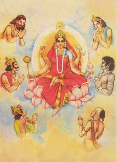 The ninth day of Navarathri is dedicated to Durga also referred as 'Siddhidatri'. It is believed that she has all the eight siddhis and is worshipped by all the Rishis and Yogis. Navratri In Hindi, Chaitra Navratri, Navratri Festival, Mother Kali, Divine Mother, Indian Goddess, Goddess Lakshmi, Durga Maa, Shiva Shakti