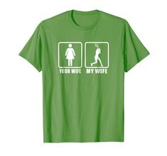 Mens Your Wife My Wife Spouse Husband Racquet Tennis T-Shirt Your Wife My Wife, Tennis Quotes, Branded T Shirts, Husband, Amazon, Funny, Clothing, Mens Tops, Outfits