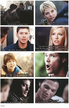 Freak. Sam and Sherlock would have a lot to talk about. And Dean and John would too. The soldiers and their freaks.