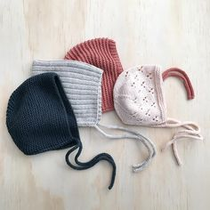 Shop handknit baby bonnets at littlepineoutfitters.com