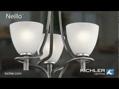 Textured. Tailored. Feathery. The Neillo Collection from Kichler Lighting.mov