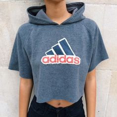 Vintage Adidas crop sweater top OSFA. In excellent condition. Great for spring/summertime :) Fits all sizes! Adidas Tops Sweatshirts & Hoodies
