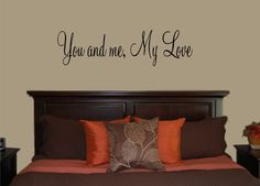 This beautiful bedroom wall decal is sized to fit beautifully over a headboard.