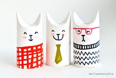 kittens toilet rolls in Crafts for babies and kids
