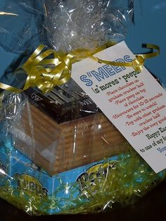 Smores kit for party favor?  Or Easter Gift for teacher?  Holiday themed Peeps would work for any occasion.