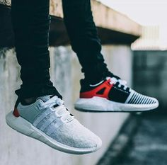 reputable site 2a91b 7830a Adidas Eqt Support 93, Kicks, Adidas Sneakers, Mens Fashion, Red, Sock