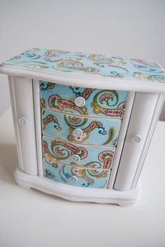 Vintage Inspired Refurbished Jewelry Box. $50.00, via Etsy.