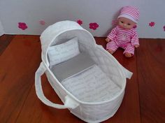 Mini Reborn Carrier Small Doll Carrier Doll Moses Basket