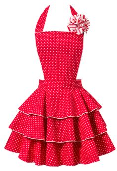 Carolyn's Kitchen: Petite Dot Party Red Apron