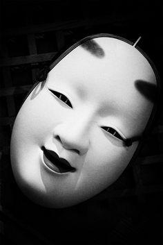 Noh mask photographed by Osamu Jinguji. Japan. S)