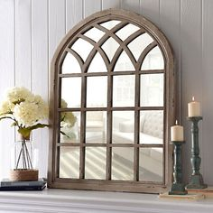 Distressed Cream Sadie Arch Mirror | Kirklands