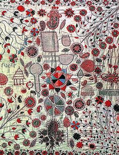 nakshi-kantha [kantha is the embroidery and nakshi-kantha is an embroidered quilt |  bangledesh & west bengal