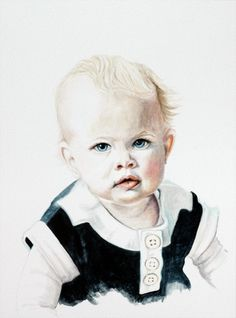 """Commission: """"Eloise"""", watercolor on aquabord, 9 x 12""""  Commissions accepted! www.redstreakeart.com"""