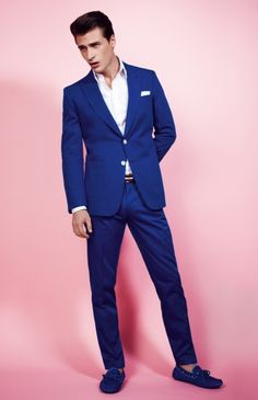 Blue summer suit