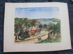 Madagascar: Illustration de 1945 réalisée à partir d'une aquarelle de…