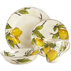 Pier 1's Avalon Dinnerware looks freshly picked from a bountiful lemon orchard, making it perfect