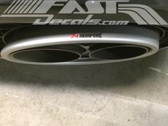 Small exhaust tip decal.  #fastdecals