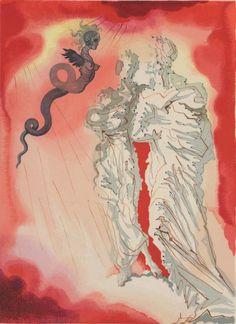 Fraud - Salvador Dali illustration for Dante's Divine Comedy, Inferno Dante Alighieri, Salvador Dali Kunst, The Transfiguration, Dantes Inferno, Tumblr, Max Ernst, Magritte, Joan Miro, Art Auction