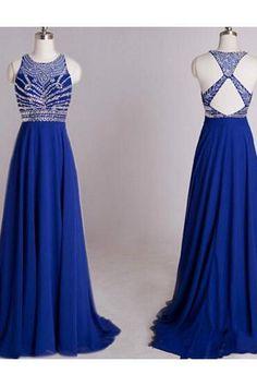 2015 Royal Blue Evening Dress, Crystal Prom Dress, Crisscross Back Evening Dress, Plus Size Evening Dress, Sexy Prom Party Dress, Plus Size Evening Dress, Elegant Evening Dresses ,Plus Size Prom Dress
